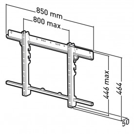 Screen wall mount - APPLIK 22446 - ERARD PRO