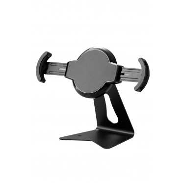PODYS - Tilting and swivelling Tablet Stand for table or wall in black color