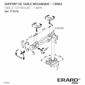 Table top mount 1 arm - 717418
