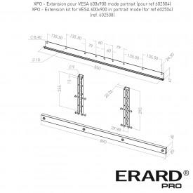 Extension pour VESA 600x900