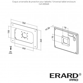 Universal tablet enclosure