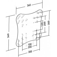 Plaque adaptatrice VESA 300x300