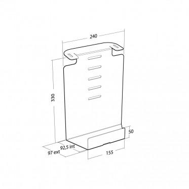 Plasmatech - Option boitier au dos de la colonne