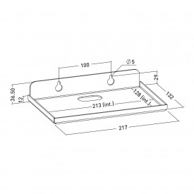 Wall shelf for POLT TC8 TAB