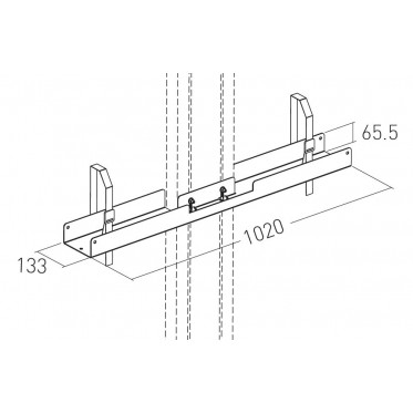 XPO / KROSS / KAMELEO - Mount for 1 screen for 2 parts stand
