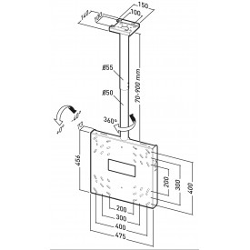 Universal ceiling mount for screens