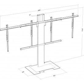 XPO fixed stand for 2 screens
