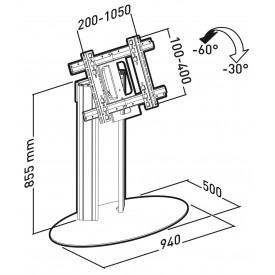 Plasmatech socle 90 cm fix. Universelle
