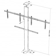Colonne XPO sol-plafond a compression