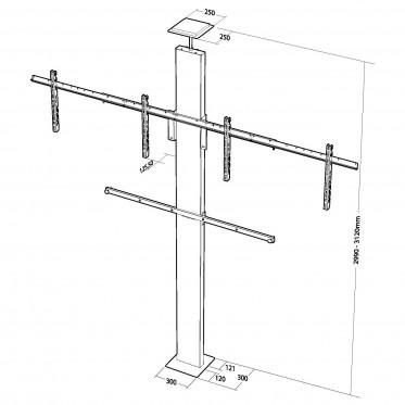 Floor-ceiling compression mount