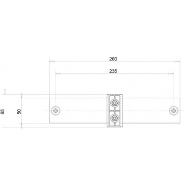 Fastening system on solid walls for EasyLIFT floor stand - drawing