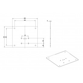 Flat base for EasyLIFT stand-drawing