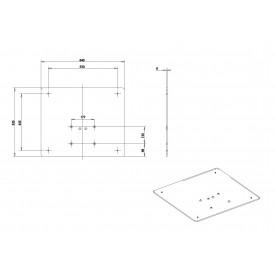 Socle pour colonne EasyLIFT-plans