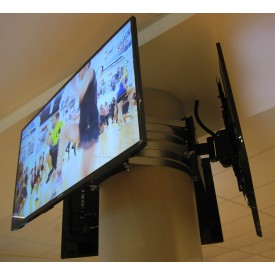 Pole mount for 1 screen