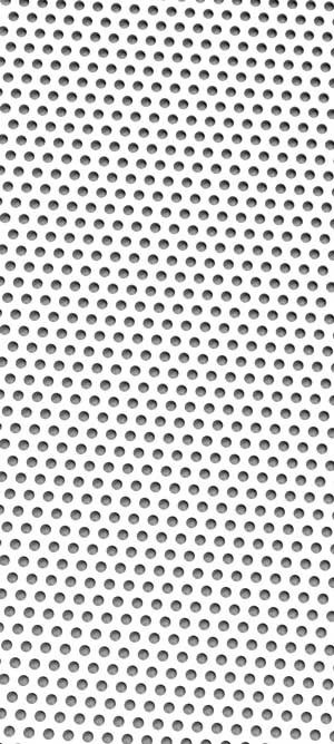 Perforated metal White Grey