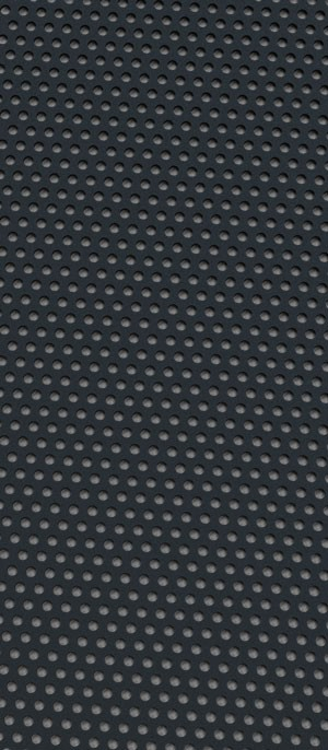 Perforated metal Signal Black