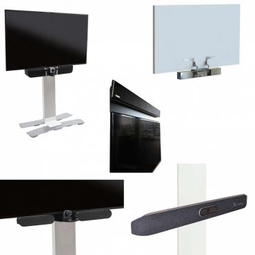 Video sound bar mounts